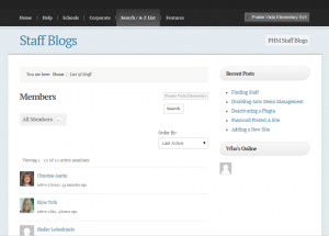 I was the sole developer on this Staff Blogging platform which hosts over 100 sites / blogs.